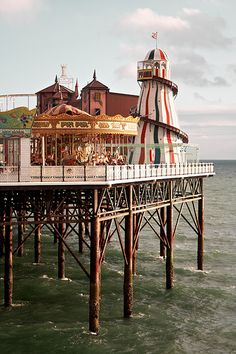 The pier of Brighton, England