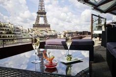 Restaurant Les Ombres. Uma das melhores vistas de Paris.
