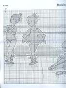 Schema punto croce Ballerine 4