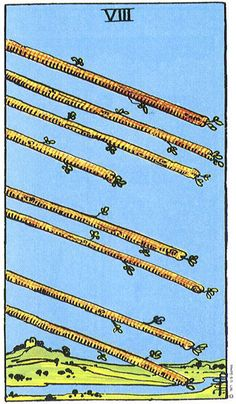Owls Wings – Tarot Card of the Week, June 29-July 5, 2020: The Eight of Wands Eight Of Wands, Rider Waite Tarot Cards, Owl Wings, Online Tarot, Tarot Astrology, Free Tarot, Tarot Card Meanings, Card Reading, Tarot Decks