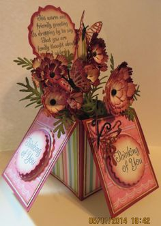 Moshie's Moments Thinking of you card for Mother's day made by paper sculpting and dies.