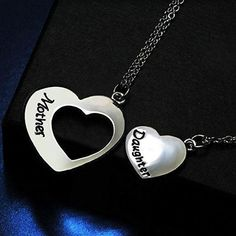 a8b6492d1d8da5 Inspire Uplift Mother Daughter Necklace Set of 2 Matching Heart Mom and Me  Jewelry