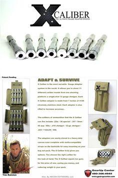 X CALIBER Shotgun Gauge Adapter System (*Pre Order) - Gear Up Center $450?!