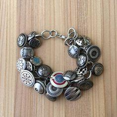 Button Bracelet, Vintage and Modern Buttons