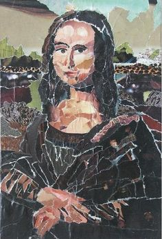 Mona Lisa/ techniek:collage