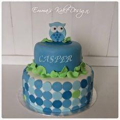 Emmas KakeDesign: Uglekake til dåp eller navnefest Baptism Cakes, Diy Step By Step, Cake Tutorial, Christening, Icing, Owl, Birthday Cake, Sweets, Tutorials