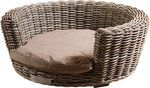 Rattan basket Rattan Basket, Wicker, Happy House, Outdoor Furniture, Outdoor Decor, Ottoman, Chair, Pets, Home Decor