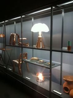 Pipistrello at La Triennale di Milano  in a fantastic copper version http://www.martinelliluce.it/prodotti/product/463 @designspeaking @witcasa @archiproducts @archiexpopins @architonic