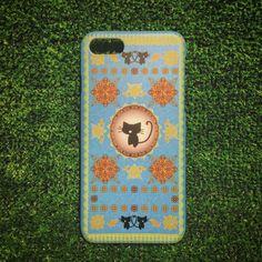 【即納】iPhone7専用ハードケース 黒猫洋書 ナウシカブルー