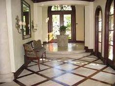 travertine and wood floor design - Bing Images Foyer Flooring, Unique Flooring, Living Room Flooring, Flooring Tiles, Bathroom Flooring, Kitchen Flooring, Wood Floor Stain Colors, Wood Floor Design, Travertine Floors