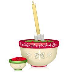 A Pinch of Love - 2014 Hallmark Ornament - Cooking Baking Bowls Dough Recipe NIB…