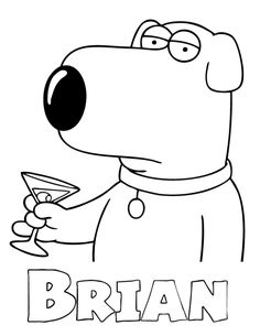 best brian family guy coloring pages coloring pages - Family Guy Coloring Pages