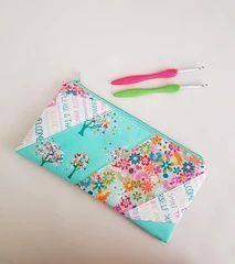 Paper pieced pencil case by alison on Loreleijayne.com Use up your scraps with this adorable pouch sewing pattern
