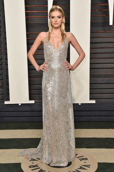 Lily Donaldson at the Vanity Fair Oscar Party