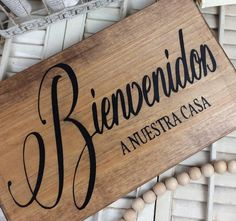 Bienvenidos spanish Welcome sign welcome to our house wood image 4 Wooden Signs With Quotes, Diy Wood Signs, Custom Outdoor Signs, Spanish Home Decor, Welcome Wood Sign, Pharmacy Design, Wood Images, Home Upgrades, Diy Frame