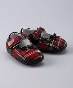 Red Tartan Plaid Piper Mary Jane from Jemos Footwear on #zulily!
