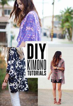 6 DIY Kimono Tutorials for a fun summer outfit!