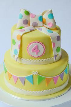 Bunting, Bows & Polka Dots   Cakes by Caralin