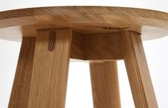 Designed by Ross Gardam for Stylecraft, Half Full is a collection of FSC certified solid timber tables, benches and low stools [detail]. I love the joinery.