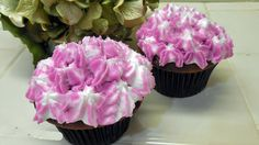How to Make Hydrangea Flower Cupcakes