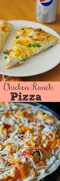 Chicken Ranch Pizza - copycat Papa Murphy's recipe! This is always a favorite!