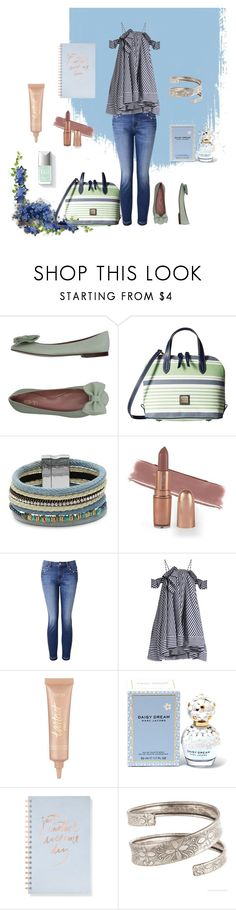 """""""Work Week Go To"""" by summer1967 ❤ liked on Polyvore featuring RED Valentino, Dooney & Bourke, Design Lab, Witchery, MSGM, tarte, Marc Jacobs and Fringe"""