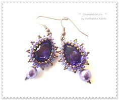 °°Purple+Rain°°Ohrring,antik,kupfer,lila,purple+von+°°FineArtBead°°+auf+DaWanda.com
