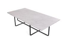 Ninety 120x60 white marble black frame