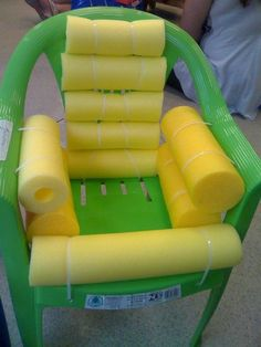 Water Noodles also make Firm cushion for manual wheelchairs.