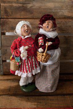 Christmas Caroler Dolls Unique Christmas by GrayGodricVintage