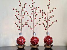 manualidades en casa bombillas ramas arbol ideas