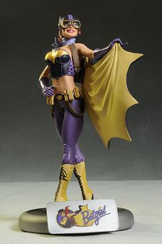 Batgirl  DC Comics Collectible Bombshell Batgirl still in box. Posted on Squirrol.com by collector DCSally