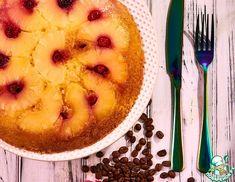 Рецепт: Перевернутый вишнево-ананасовый пирог