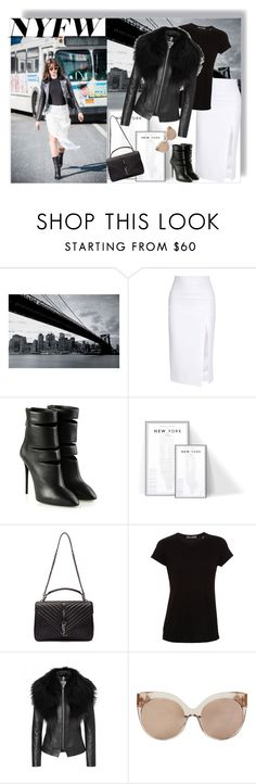 """Day Three: The best NYFW street style"" by b-a-hanen on Polyvore featuring 1Wall, Cushnie Et Ochs, Giuseppe Zanotti, Yves Saint Laurent, Vince, Linda Farrow, women's clothing, women, female and woman"