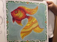 Lost Ocean by Johanna Basford large fish