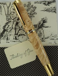 Wooden Fountain Pen Hand Turned and by MikesPenTurningZ on Etsy, $89.00