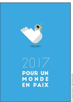 Cette carte vous plait ? Profitez-en tant qu'il est encore temps de souhaiter une bonne année 2017 à vos amis avec une jolie #carte envoyée par La Poste en quelques clics ! #voeux #BonneAnnée #voeux2017 #amour #love #paix #peace #paz  Carte Colombe pour un monde en paix pour envoyer par La Poste, sur Merci-Facteur !