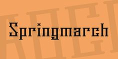 New free font 'Springmarch' by feorag · Free for commercial use · #freefont #font