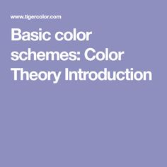 Basic color schemes: Color Theory Introduction - Shades (adding white or black to pure hue)