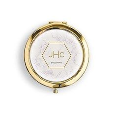 818c3c69fe9 Greenery Personalized Compact Mirror – Modern Monogram Gifts ...