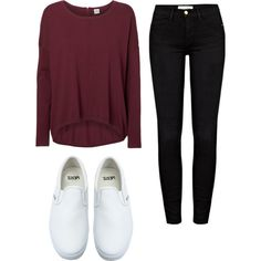 Untitled #125 by pao-xox on Polyvore featuring polyvore moda style Vero Moda Frame Denim Vans
