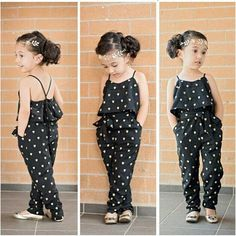 Toddler Girls Dot Print Jumpsuit. Your little girl will look super chic in this one-piece jumpsuit. Style #: 6303377 Item Type: Overalls Department Name: Children Fit: Fits true to size, take your normal size Material: Cotton, Polyester Gender: Girls
