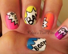 Superhero Comic Book Wedding Ideas - Comic Book Nails - Kelsie's Nail Files