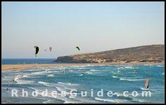 Prasonisi Beach, Rhodes Greece. Watersports paradise :)