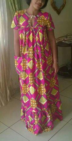 Simple Ankara Long Gown Design for Ladies . Simple Ankara Long Gown Design for Ladies African Fashion Ankara, Latest African Fashion Dresses, African Print Fashion, Africa Fashion, Ghanaian Fashion, African Style, Long African Dresses, African Print Dresses, African Prints