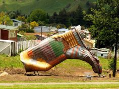 Corrugated metal creation in Taihape