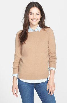 fcaa7974bff57 Halogen® Crewneck Cashmere Sweater (Regular   Petite)