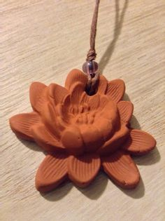Live Well Lotus Terracotta Diffuser Necklace or Car Air Freshener/Diffuser