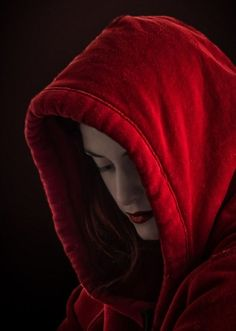 """""""He's the path lined with wildflowers, And I'm Red Riding Hood. I've been warned, but I just can't resist the blossom and perfume that calls me over. Scarlet, Red Riding Hood Wolf, Foto Fashion, Simply Red, Red Aesthetic, Dark Beauty, Shades Of Red, Cloak, Little Red"""
