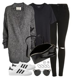 """""""Untitled #590"""" by jennifer1297 ❤ liked on Polyvore featuring Topshop, Isabel Marant, Acne Studios, adidas Originals, Christian Dior, Givenchy, ASOS and Rebecca Minkoff"""